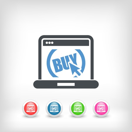 buy button: Illustration of buy button on website Illustration