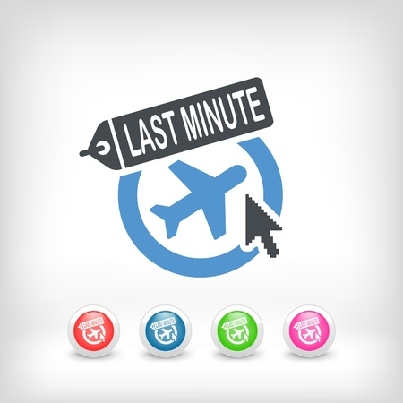 Illustration of 'Last minute' link icon Vector