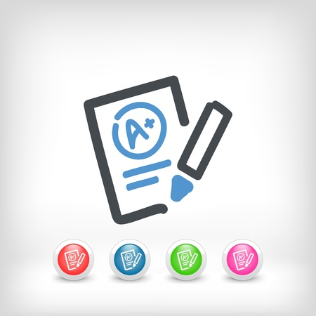 Illustration of excellent evaluation test icon Stock Vector - 19578778