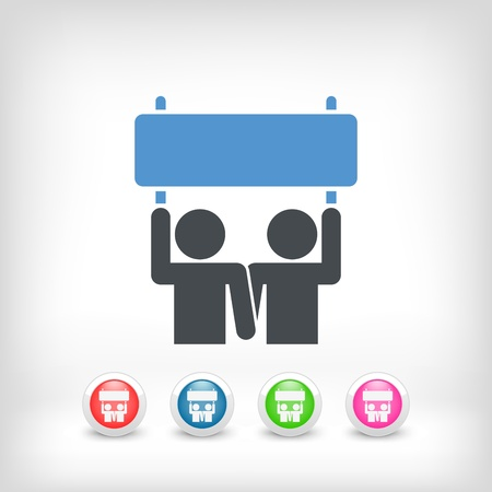 activism: Ilustraci�n del icono activismo personas
