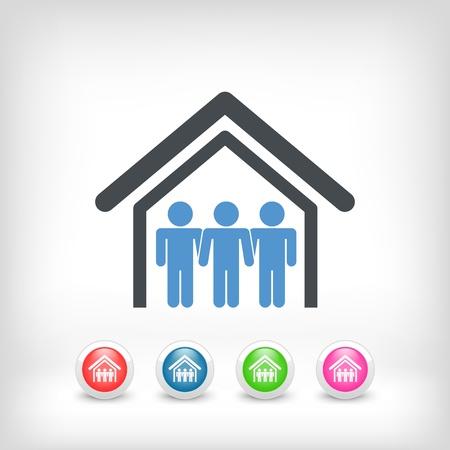 icone immobilier: Illustration de l'ic�ne de l'immobilier