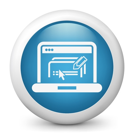 Illustration of text software document icon Stock Vector - 19616640