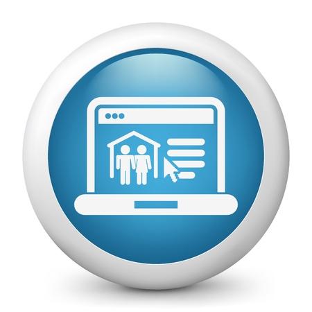 resident: illustration of real estate website icon