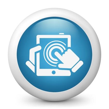 tabletpc: Illustration of click tablet touchscreen Illustration