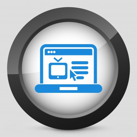 streaming: Illustration of streaming tv website icon