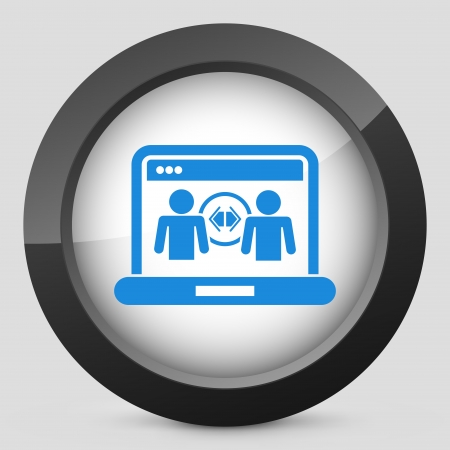 Illustration of web sharing concept icon Vector