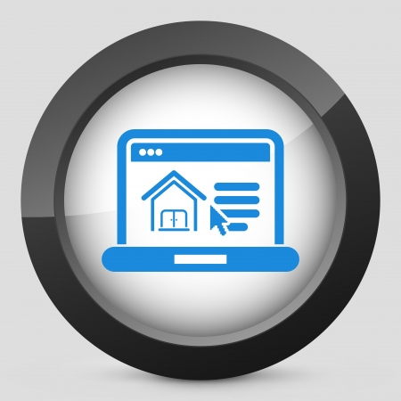realestate: Illustration of realestate website icon Illustration
