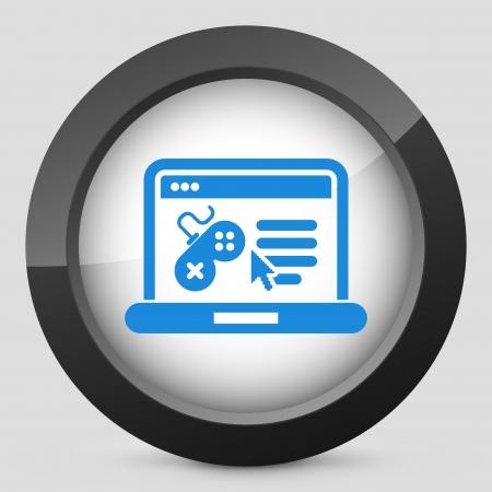 joypad: Illustration depicting a videogame software web page icon Illustration