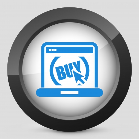 Illustration of buy button on website Vector