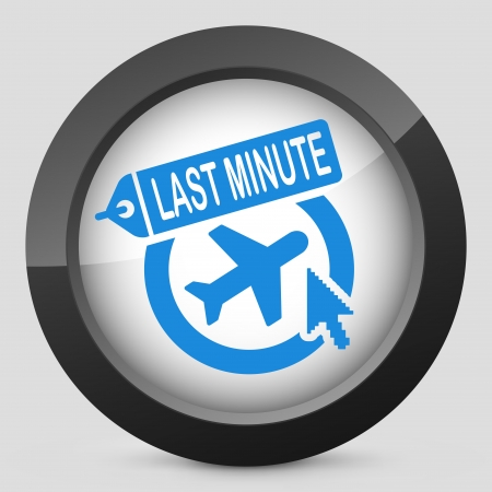 the last: Illustration of Last minute airline link icon Illustration