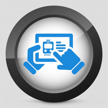 Train website on tablet icon Stock Vector - 19616365