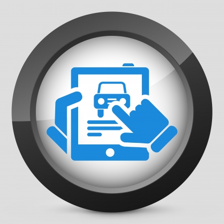 Car website icon on tablet Stock Vector - 19616360