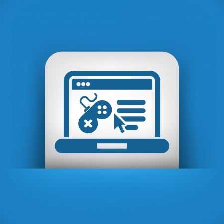 gamepads: Illustration depicting a videogame software web page icon Illustration