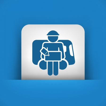 consignee: Illustration of bellboy concept icon