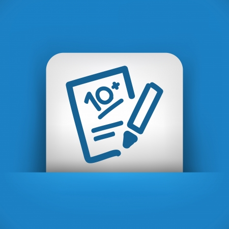 schoolwork: Successful test performance result icon
