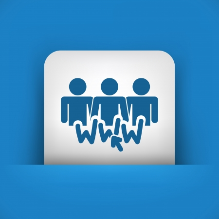 family discussion: Illustration of social network icon
