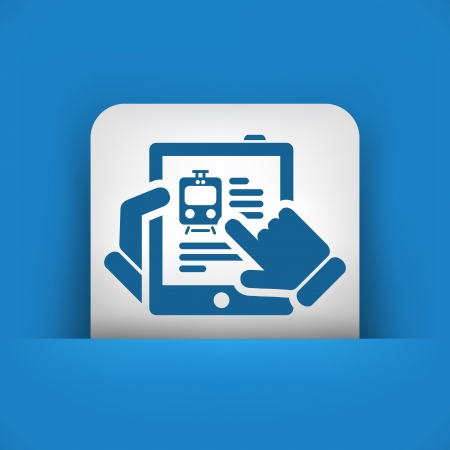 Train website on tablet icon Stock Vector - 19616525