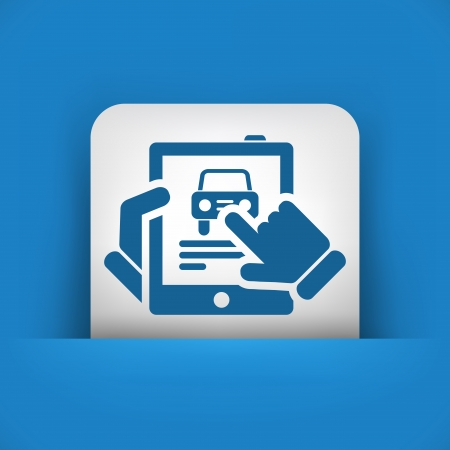 Car website icon on tablet Stock Vector - 19616492