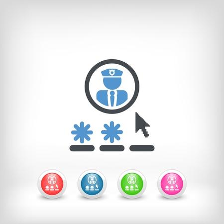 access: Password access concept icon