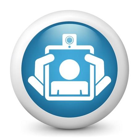 webcam: Webcam tablet icon concept