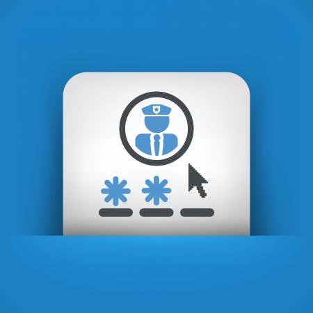 accessing: Contrase�a icono concepto de acceso