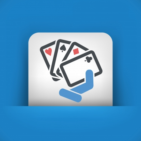 Poker game icon concept Vector