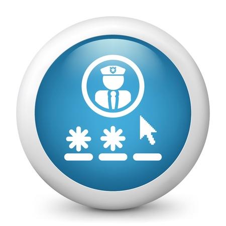 Password access concept icon Stock Vector - 19703074