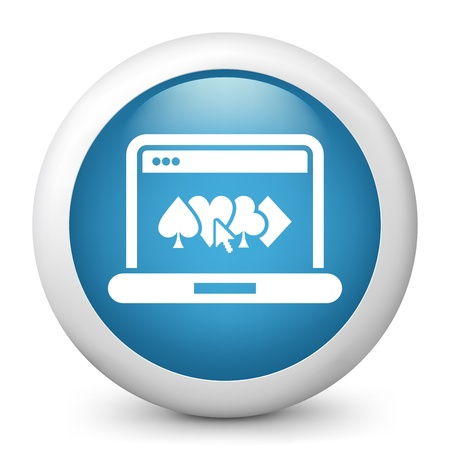 Poker game icon concept