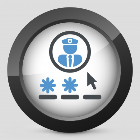 security guard: Password access concept icon