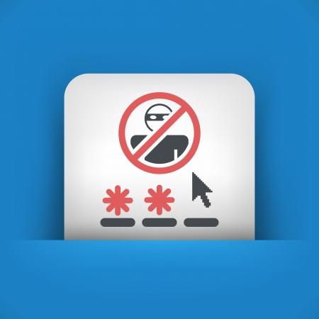 accessing: Password access concept  icon