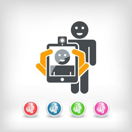 Smartphone or tablet photo digital portrait shoot Stock Vector - 19855819