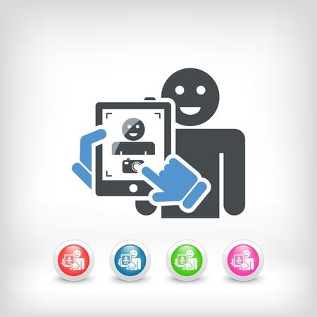 videographer: Touch device mobile photo portrait concept