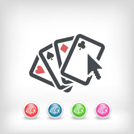Poker website concept  icon