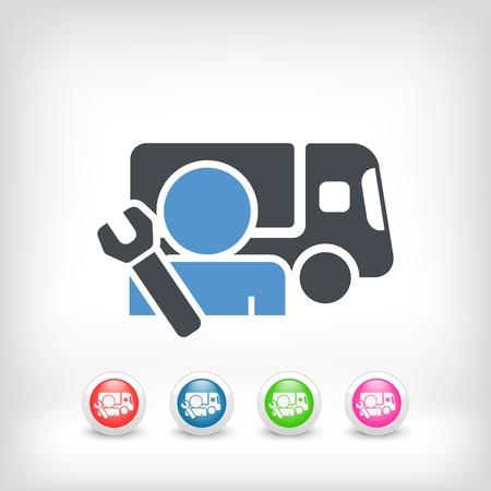 Reparaties assistentie service concept Vector Illustratie