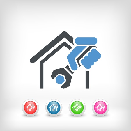 Home professional services icon Stock Vector - 19875680
