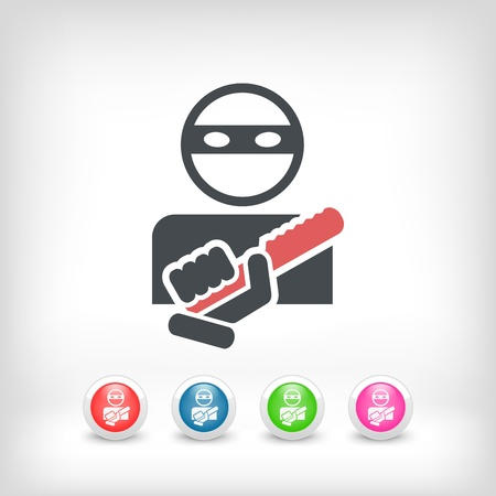 armed: Armed bandit concept icon Illustration