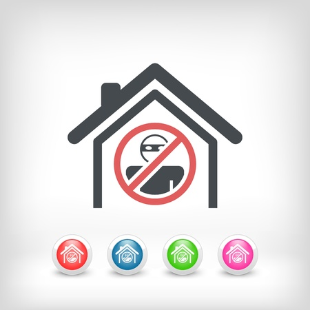 burglar alarm: House protection concept icon