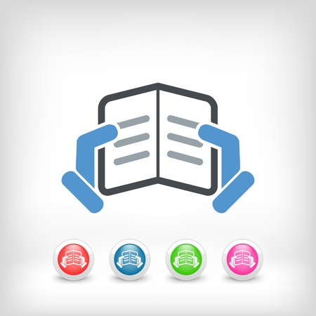 Text reading concept icon Stock Vector - 19875695