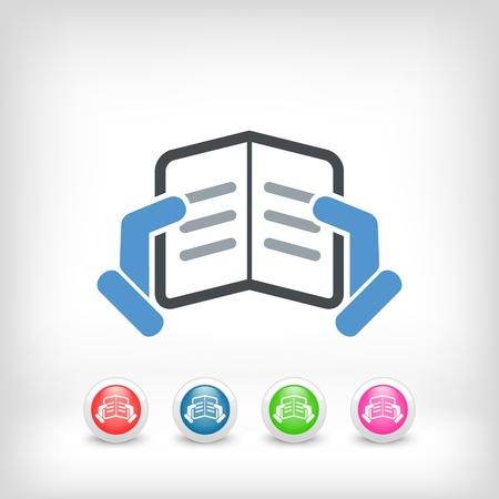 athenaeum: Text reading concept icon