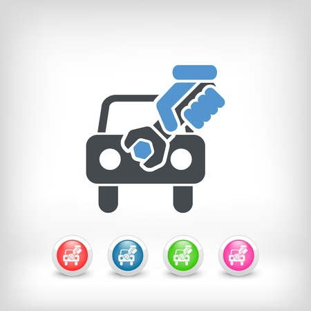 Car assistance concept icon Stock Vector - 19875736