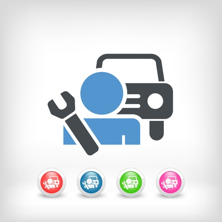 roadside assistance: Car assistance icon concept
