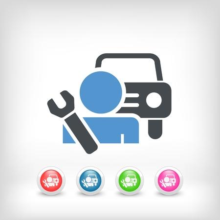 roadside assistance: Car assistance icon concept
