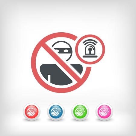 accessing: Thief alarm concept icon