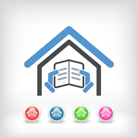 Illustration of library icon Stock Vector - 19875703