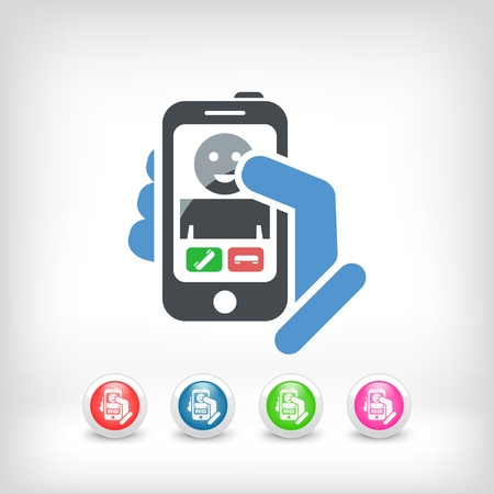Smartphon incoming call icon Stock Vector - 19875648