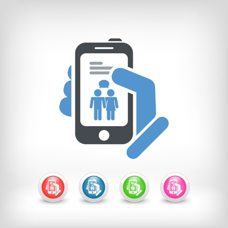 Smartphone chat icon concept Stock Vector - 19875716