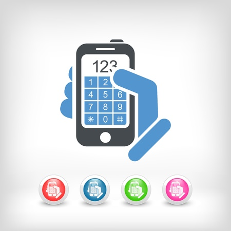 Call phone icon concept Stock Vector - 19875788