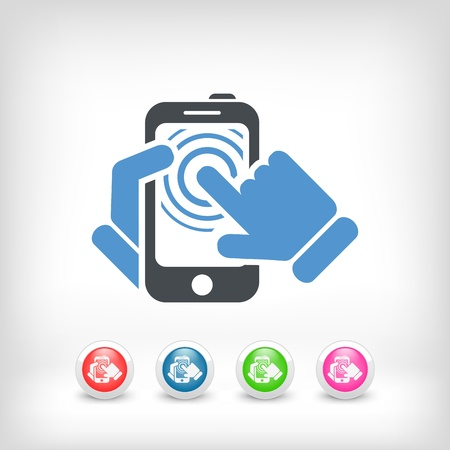 Smartphone touchscreen icon concept Stock Vector - 19875634