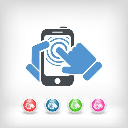 Smartphone touchscreen icon concept Stock Vector - 19875634
