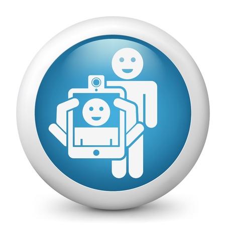 videomaker: Smartphone or tablet photo digital portrait shoot Illustration